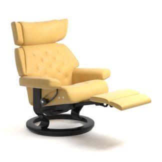 Sessel SKYLINE Classic Legcomfort Leder Batick mimosa Gestell schwarz Stressless