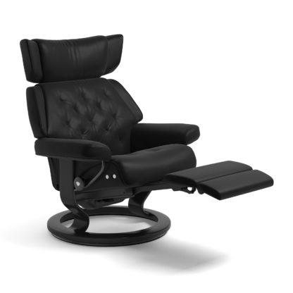 Sessel SKYLINE Classic Legcomfort Leder Batick schwarz Gestell schwarz Stressless
