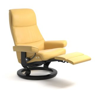 Sessel VIEW Classic Legcomfort Leder Batick mimosa Gestell schwarz Stressless