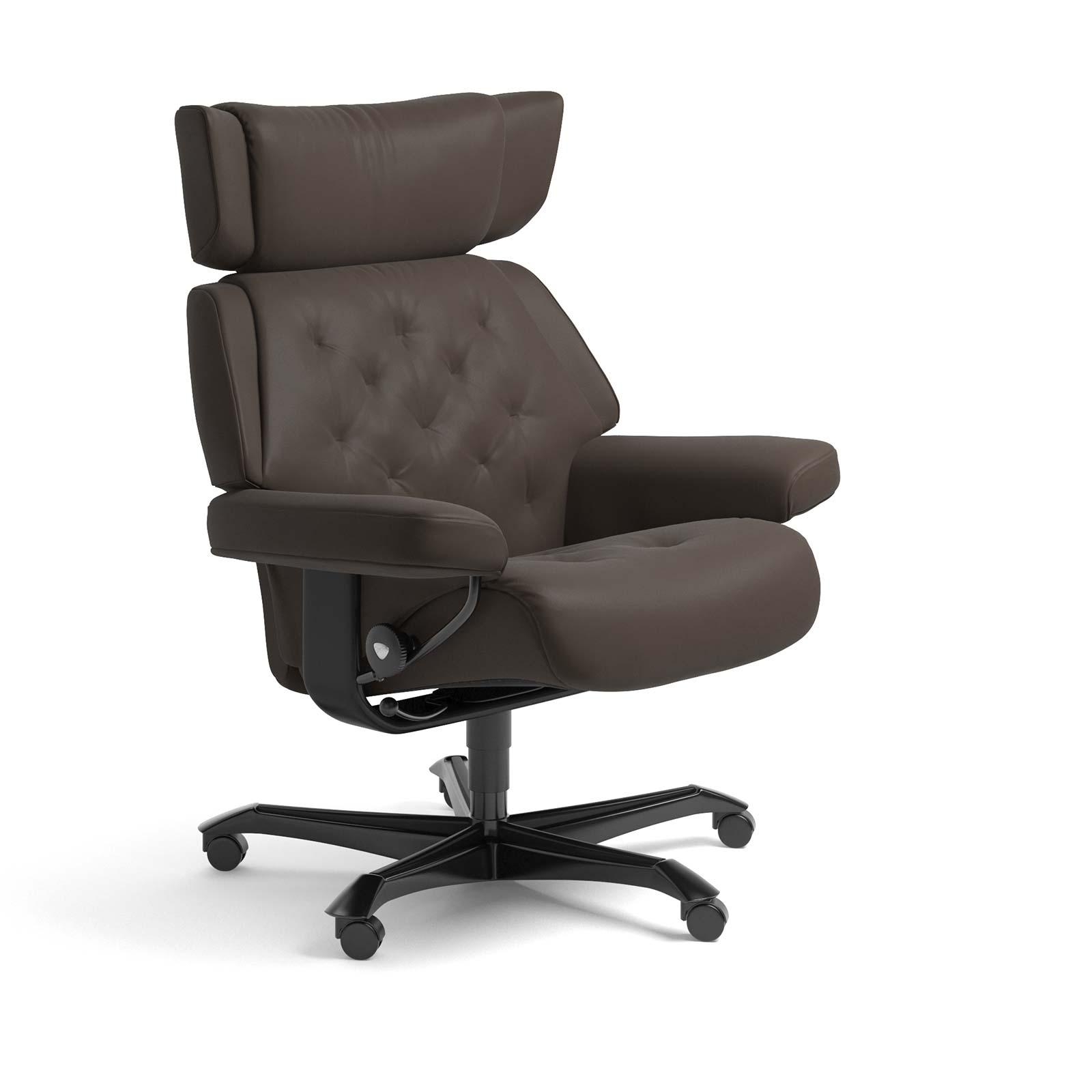 Stressless Sessel SKYLINE Home Office Leder Batick braun