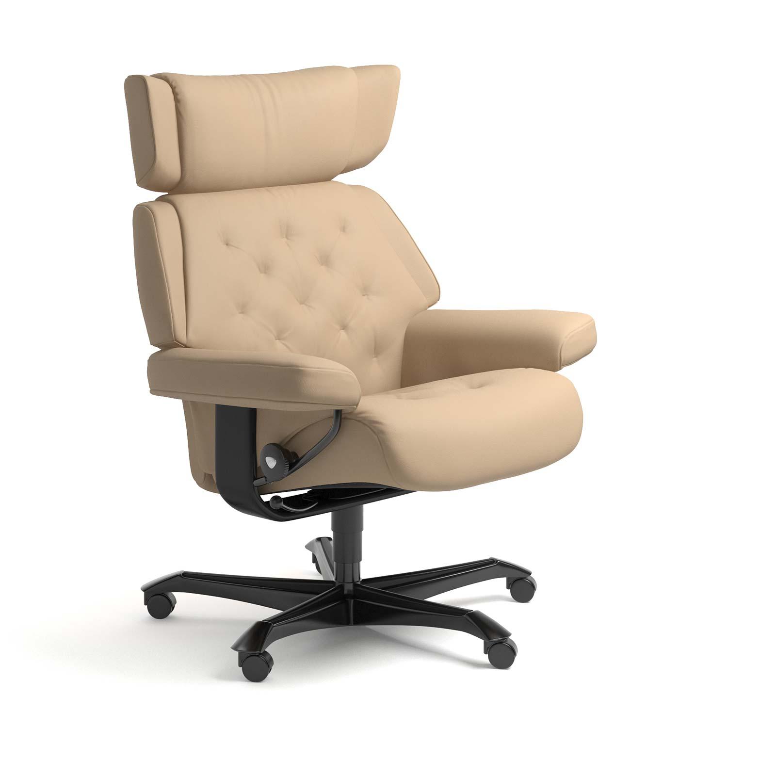 Stressless Sessel SKYLINE Home Office Leder Paloma beige