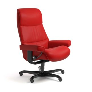 Sessel VIEW Home Office Leder Batick chilli red Gestell schwarz mit Rollen Stressless