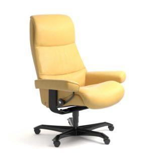 Sessel VIEW Home Office Leder Batick mimosa Gestell schwarz mit Rollen Stressless