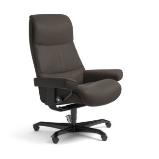 Sessel VIEW Home Office Leder Paloma chestnut Gestell schwarz mit Rollen Stressless