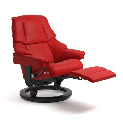 Sessel RENO Classic Legcomfort Leder Batick chilli red Gestell schwarz Stressless