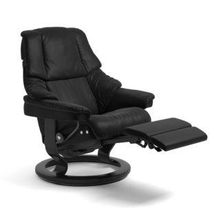 Sessel RENO Classic Legcomfort Leder Batick schwarz Gestell schwarz Stressless