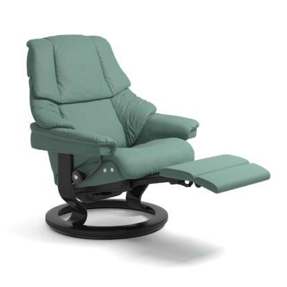 Sessel RENO Classic Legcomfort Leder Paloma aqua green Gestell schwarz Stressless