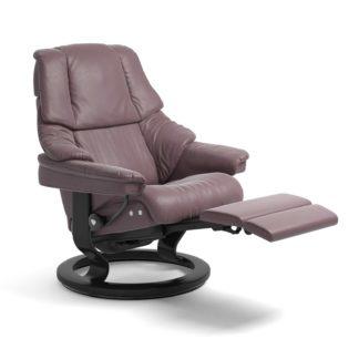 Sessel RENO Classic Legcomfort Leder Paloma purple plum Gestell schwarz Stressless