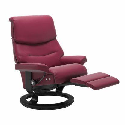 Sessel CAPRI Classic Legcomfort Leder Paloma beet red Gestell schwarz Stressless
