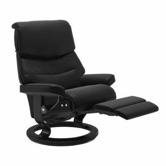 Sessel CAPRI Classic Legcomfort Leder Paloma schwarz Gestell schwarz Stressless