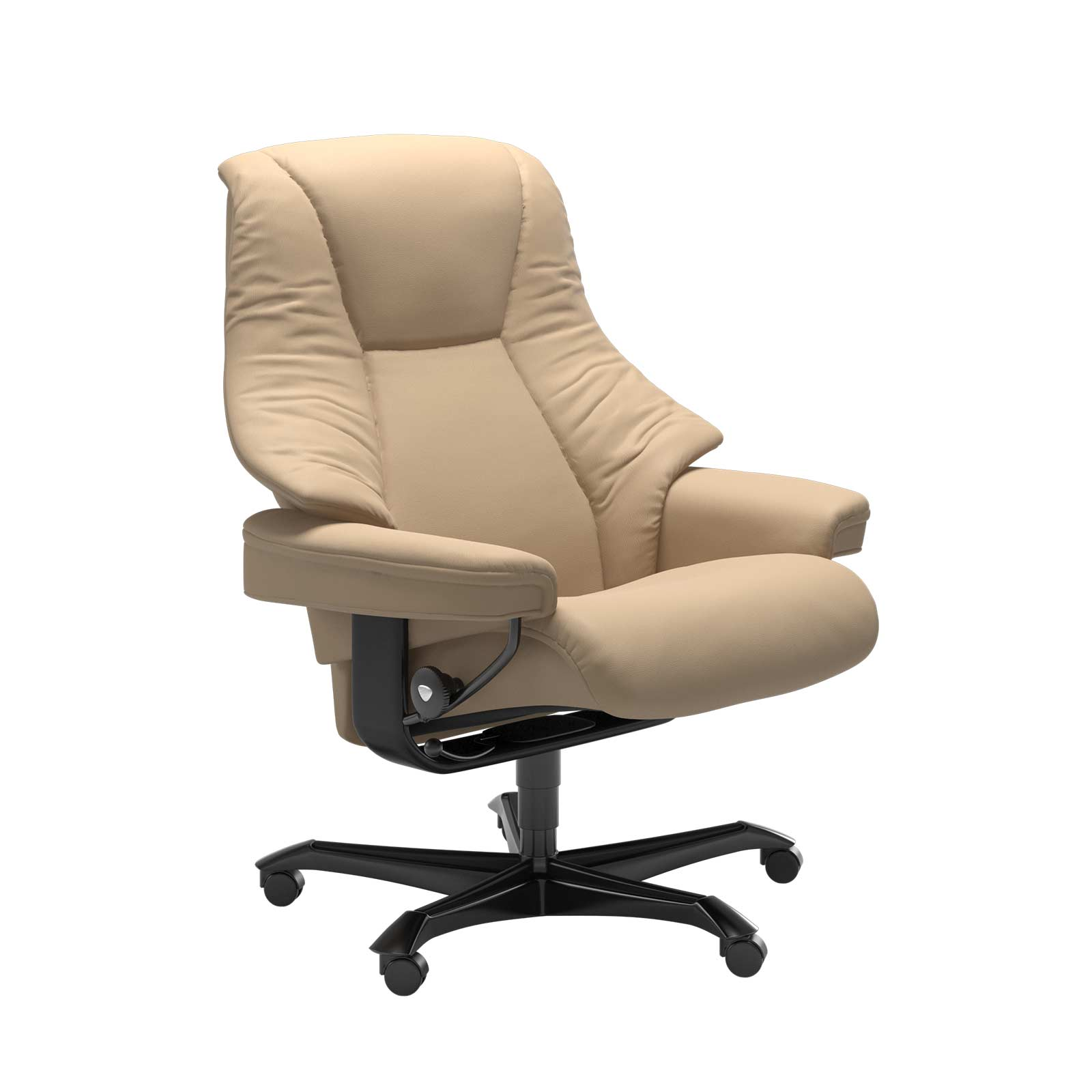 Stressless Sessel LIVE Home Office Leder Paloma beige