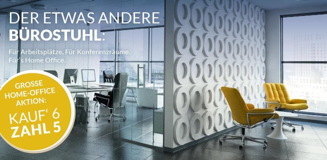 Office Akton: fünf Bürostühle kaufen, den 6. kostenlos dazubekommen