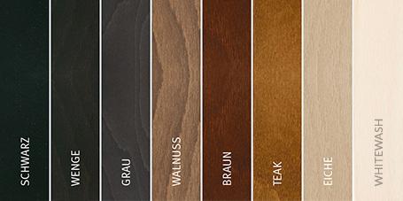 Aktuelle Holz Gestell Farben für Stressless Möbel