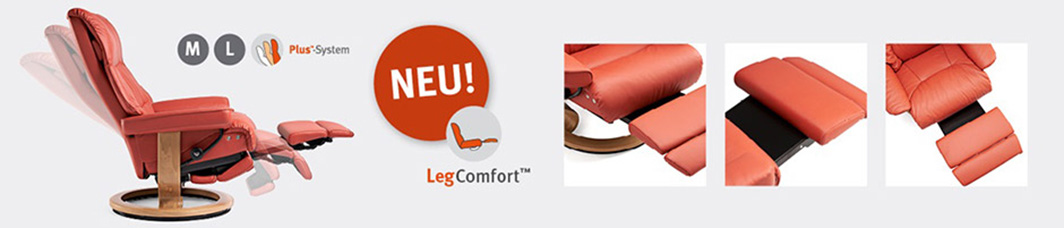 Funktionen des Stressless Sessels mit LegComfort System